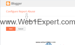 How to remove report abuse from blogger